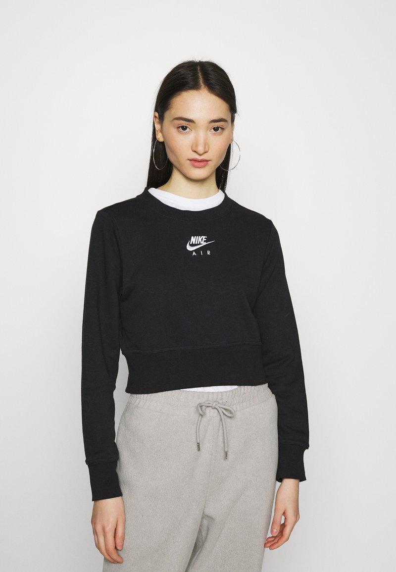 Nike Sportswear - AIR CREW  - Sweatshirt - black/white