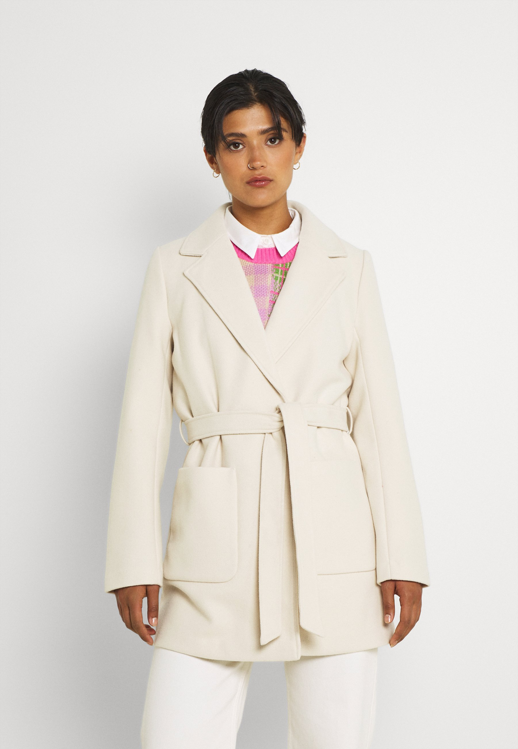 Donna VICATTY BELTED COLLAR COAT - Cappotto corto