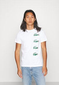 Lacoste - T-shirt con stampa - blanc - 0