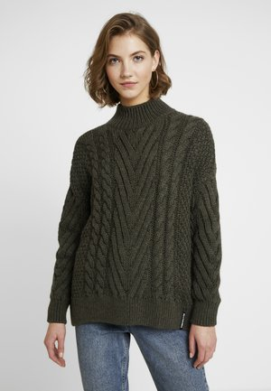 DALLAS CHUNKY CABLE - Jumper - army khaki