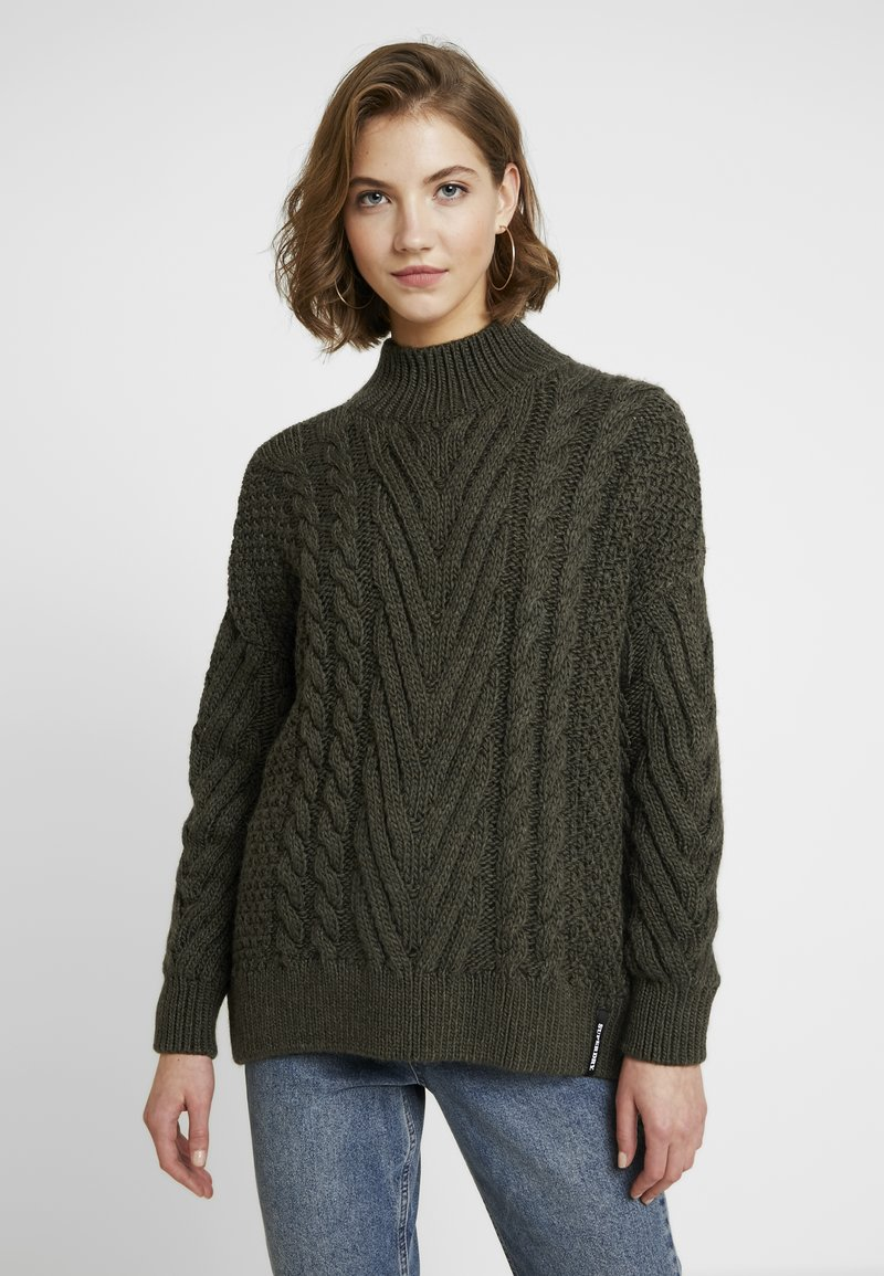 Superdry - DALLAS CHUNKY CABLE - Jumper - army khaki