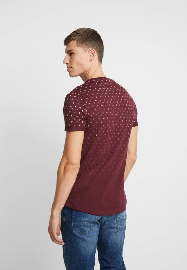 Pier One T-shirt z nadrukiem - bordeaux/bordowy Odzież Męska MYQL