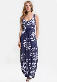 HotSquash - EMPIRE - Długa sukienka - blue with white flower - 0