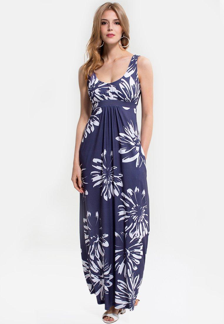 HotSquash - EMPIRE - Długa sukienka - blue with white flower