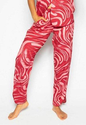 KRISTEN  - Pyjamabroek - red spiral