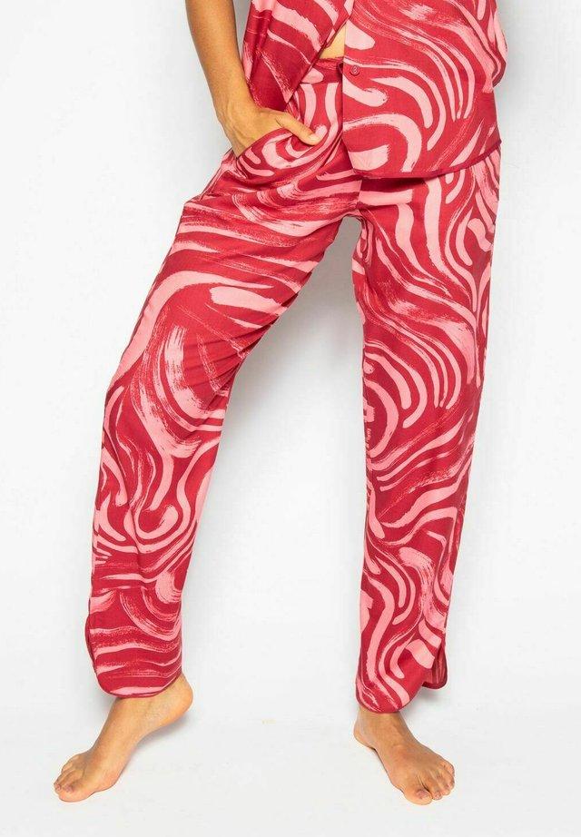 KRISTEN  - Pyjamasbyxor - red spiral