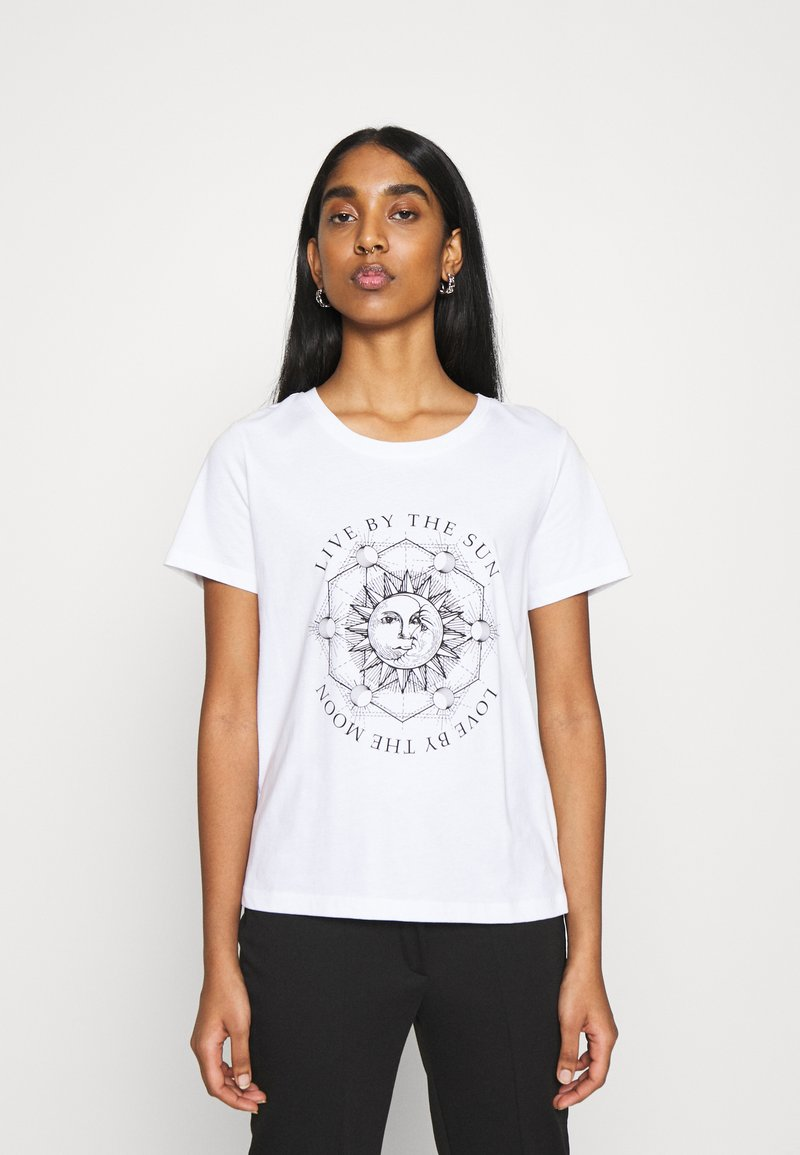 ONLY - ONLSYMBOL  - Print T-shirt - white/live by the sun