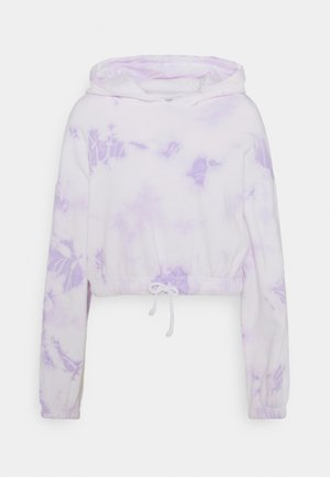 Cropped tie dye hoodie - Jersey con capucha - white
