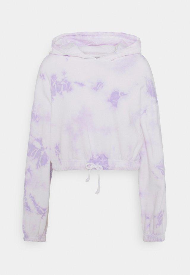 Cropped tie dye hoodie - Mikina skapucí - white