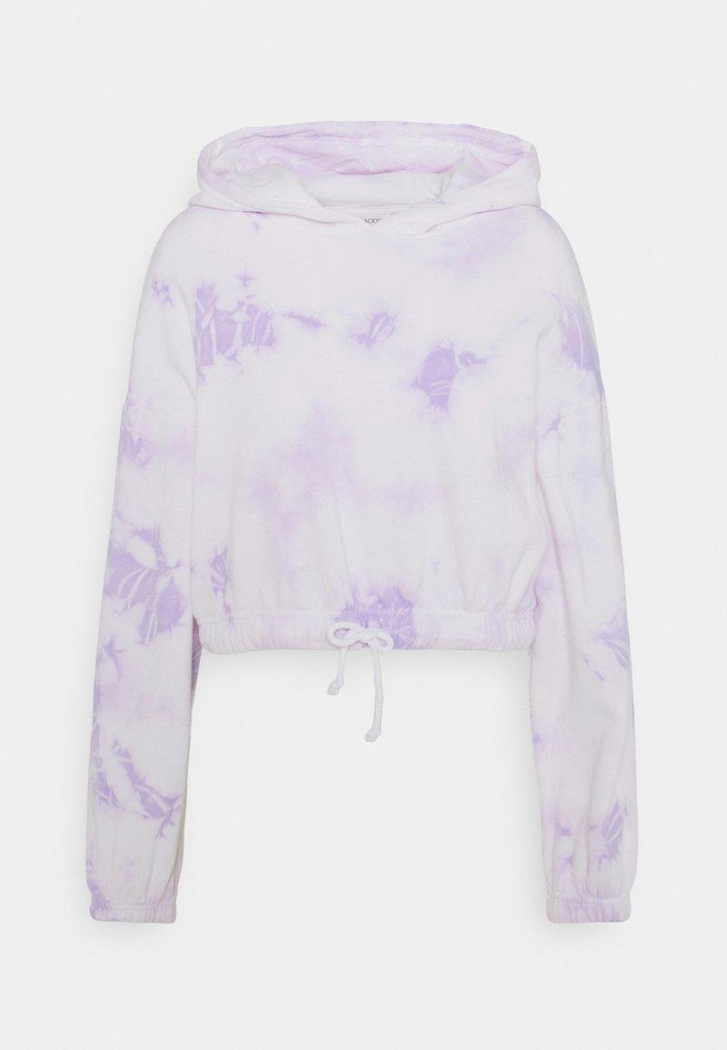 Even&Odd - Cropped tie dye hoodie - Sweat à capuche - white