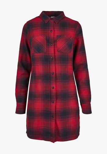 Shirt dress - darkblue/red
