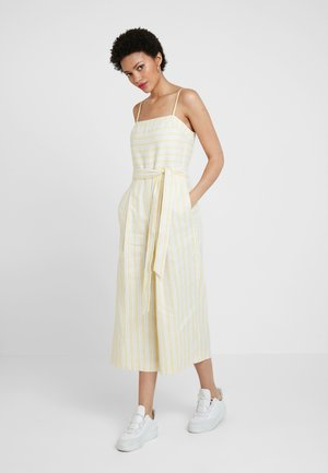 STRIPE SQUARE NECK JUMPSUIT - Jumpsuit - yellow