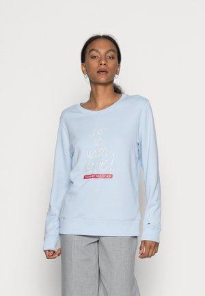 SLOGAN  - Sweatshirt - breezy blue