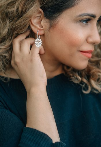 CREOLE FOLIUM POLIERT - Earrings - silberfarben poliert