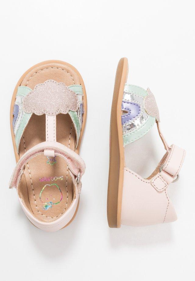 TITY RAINBOW - Sandaalit nilkkaremmillä - pink/opal/lila