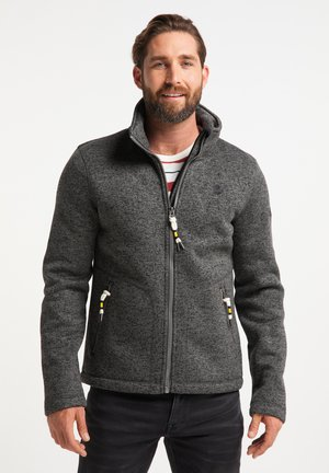 Fleece jacket - dunkelgrau melange