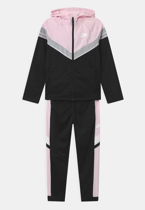 POLY SET UNISEX - Tracksuit - black/pink foam/white