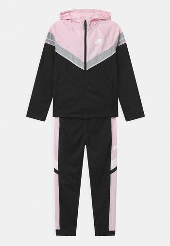 POLY SET UNISEX - Tracksuit - black/pink foam/white
