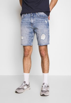 Jeans Short / cowboy shorts - blue rip
