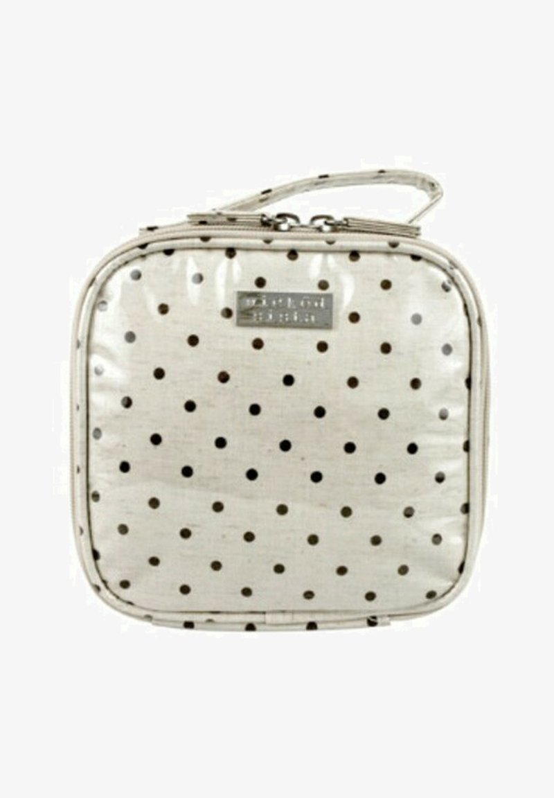Wicked Sista - WS NATURAL DOT SMALL SQUARE - Wash bag - weiß