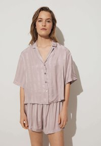 OYSHO - JACQUARD - Pantaloni del pigiama - mauve - 2