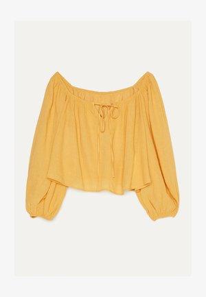 MIT SCHLEIFE  - Blouse - mustard yellow