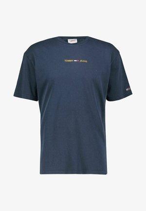 METALLIC LINEAR LOGO TEE - Print T-shirt - marine