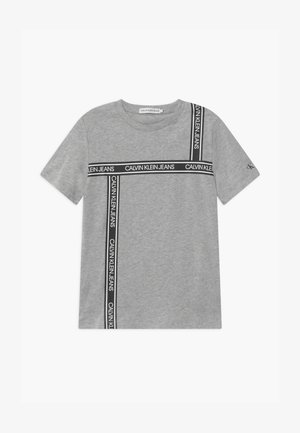 LOGO TAPE  - Print T-shirt - grey