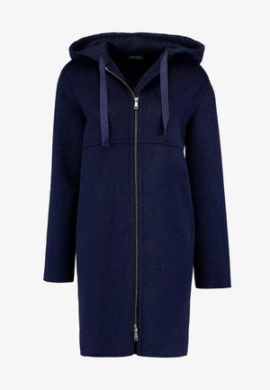 ZIP UP HOODED JACKET - Classic coat - blue