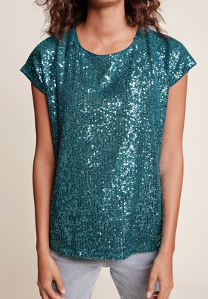SEQUIN - T-shirt imprimé - blue