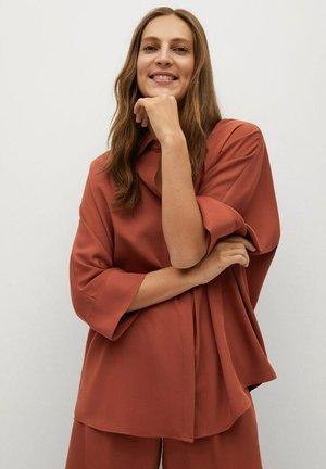 MOMO - Button-down blouse - naranja tostado