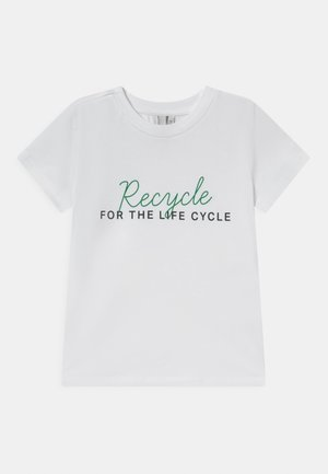 RECYCLE TEE BOX - T-shirts med print - bright white