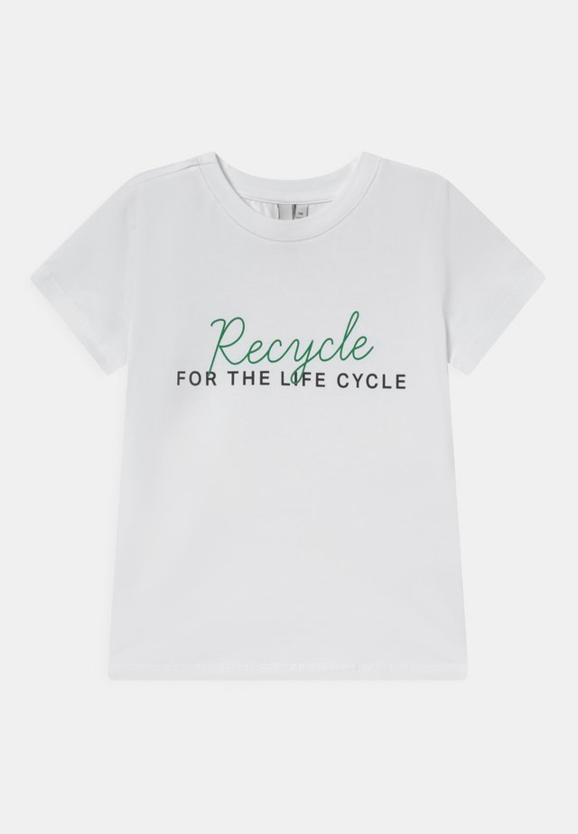 RECYCLE TEE BOX - T-shirt print - bright white