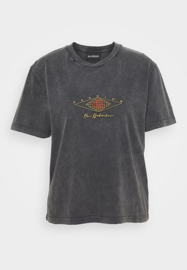 ARTWORK TEE - T-shirt imprimé - faded dark grey