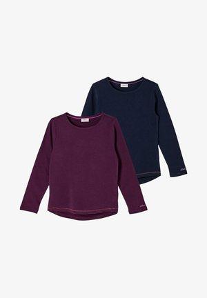 2PACK - Long sleeved top - purple/navy