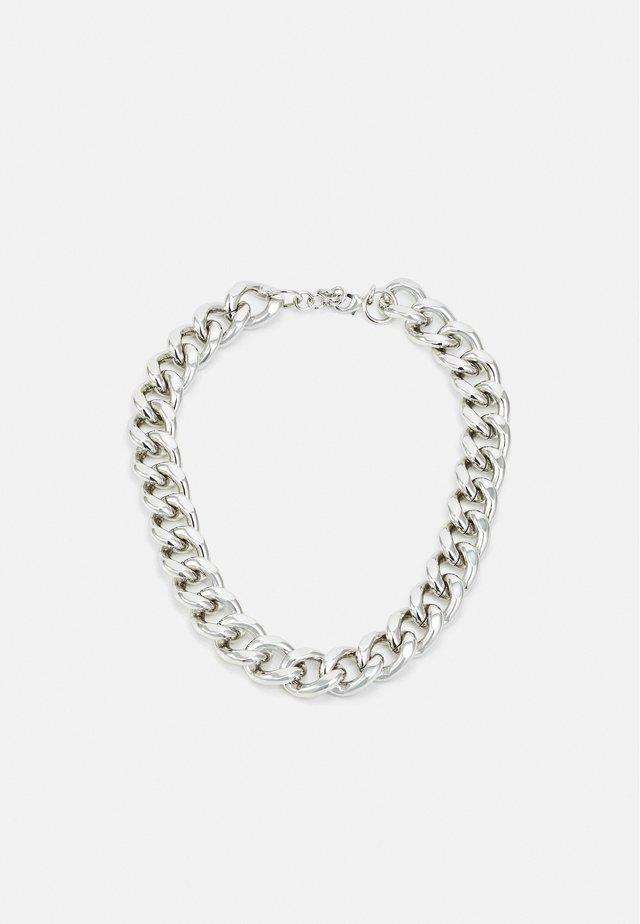 COLLIER AVEC PETIT ANNEAUX - Necklace - silver-coloured