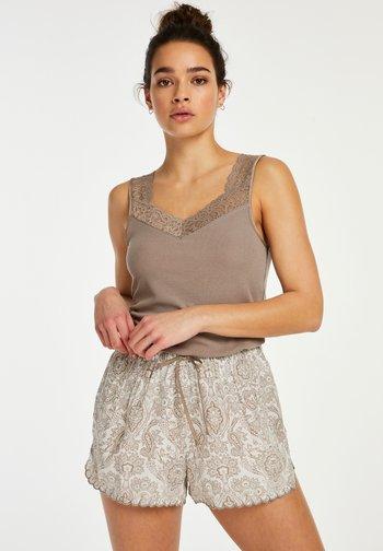 SCALLOP PAISLEY - Pyjama bottoms - white