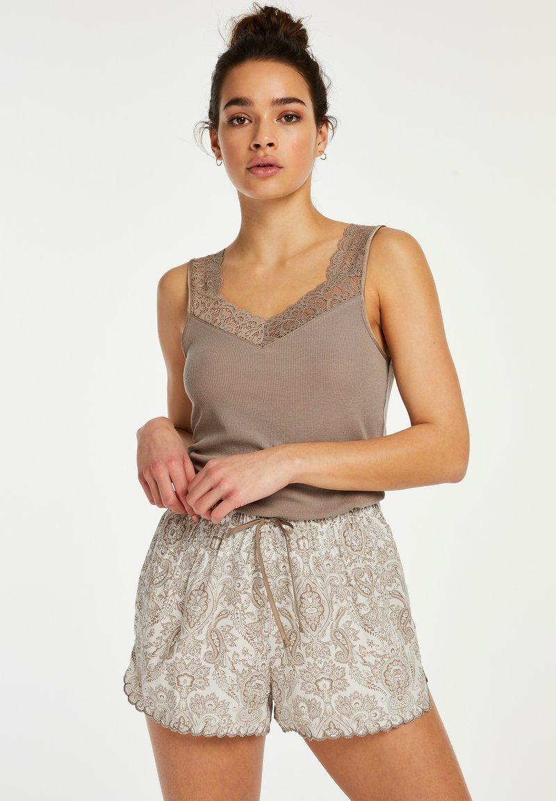 Hunkemöller - SCALLOP PAISLEY - Pantaloni del pigiama - white