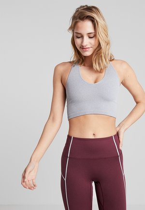 FREE THROW CROP - Light support sports bra - grey