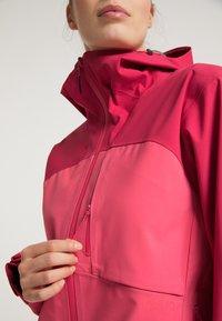 PYUA - Waterproof jacket - jalapeno red - paradise pink - 4