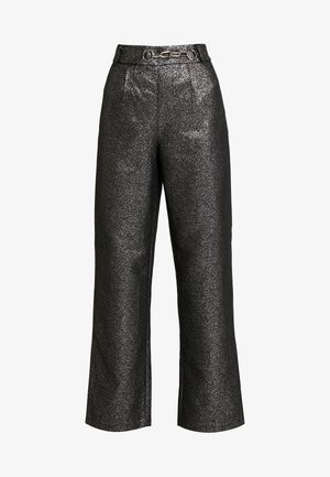 WASHINGTON TROUSER - Pantalones - black/silver