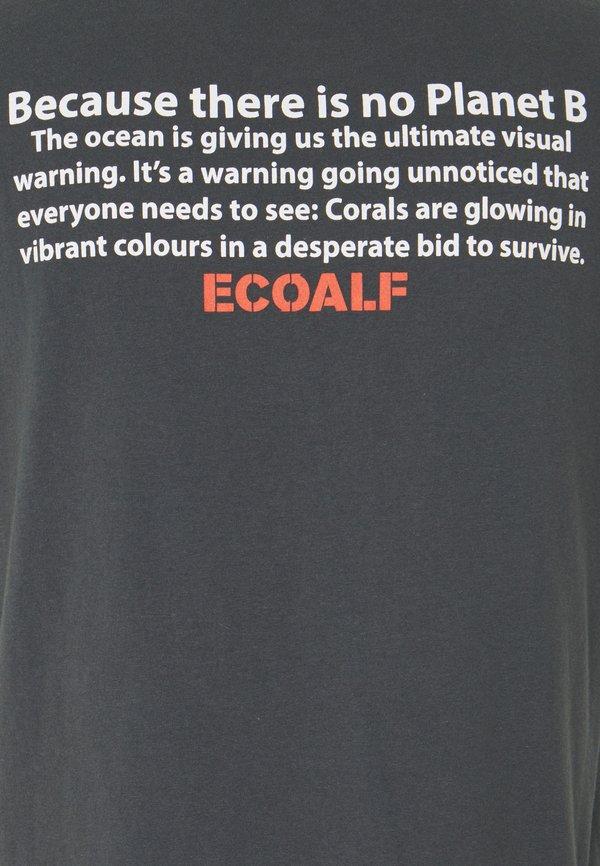 Ecoalf SAONA MAN - T-shirt z nadrukiem - caviar/czarny Odzież Męska WDWR