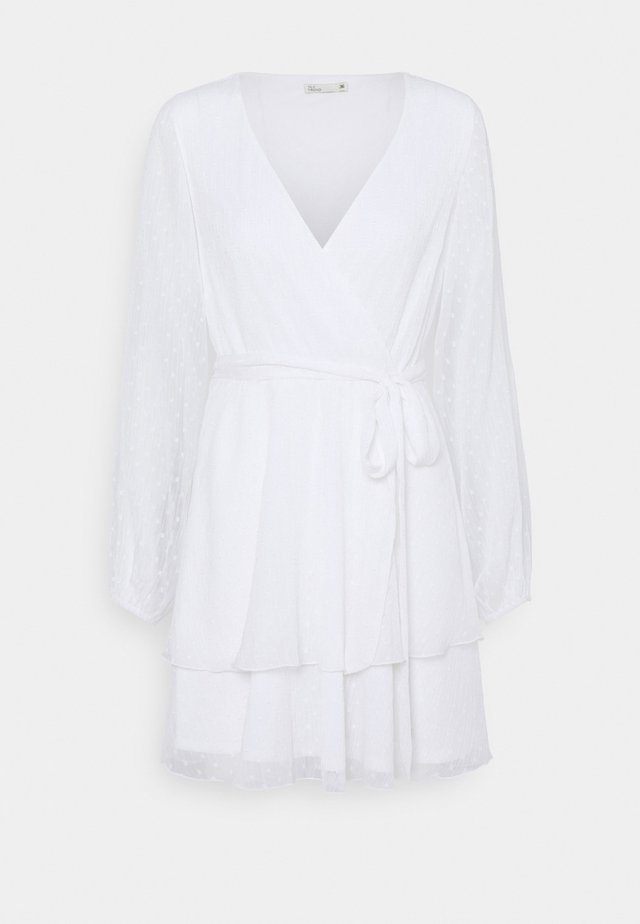 LOVEABLE WRAP DRESS - Juhlamekko - white