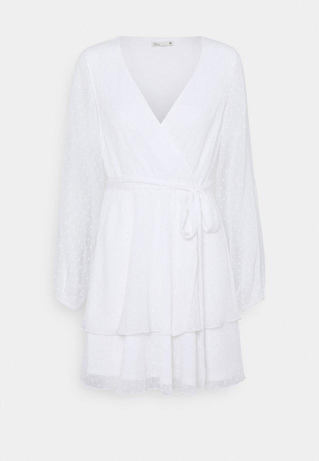 LOVEABLE WRAP DRESS - Cocktail dress / Party dress - white