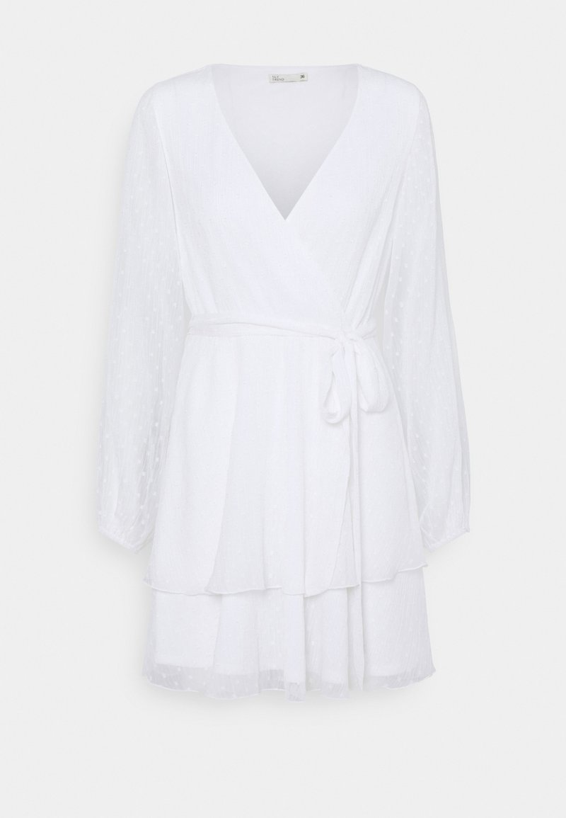 Nly by Nelly - LOVEABLE WRAP DRESS - Cocktail dress / Party dress - white