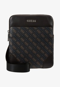 Guess - MANHATTAN FLAT CROSSBODY - Sac bandoulière - brown - 5