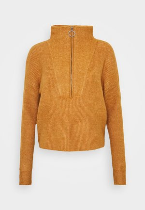 NMNEWALICE HIGH NECK - Jumper - brown sugar