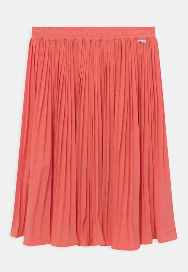 BECKY - Pleated skirt - fresh coral
