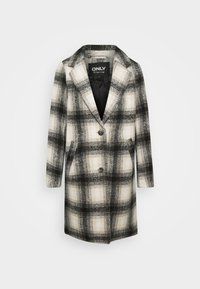 ONLVERONICA CHECK COAT - Classic coat - pumice stone/black