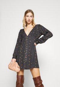 Milk it - MYSTICAL DRESS RUCHED BUST & HOOK ANDEYE DETAILING - Day dress - black - 4